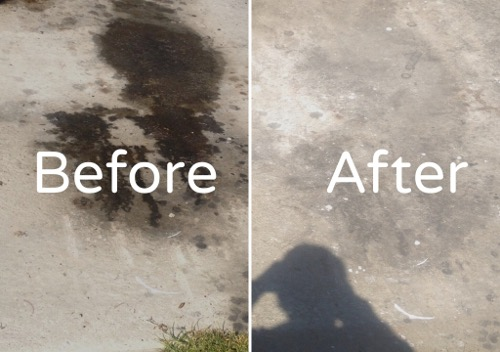 remove oil stains from concrete floors
